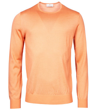 Thomas Maine heren bright orange ronde hals trui