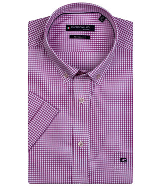 Giordano Regular Fit wit-roze ruitje