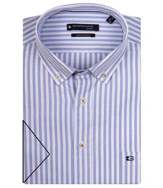 Giordano Regular Fit lichtblauw-wit streepje