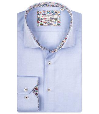 Giordano Tailored lichtblauw met vissenprint contrast