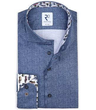 R2 Amsterdam jeans blauw visgraat met tutti colori contrast