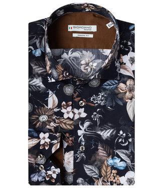 Giordano Tailored zwart beige bruin blauw bloemenprint