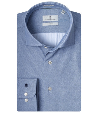 Thomas Maine blauw print technical jersey Canclini