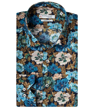 Giordano Tailored 207827-60 Giordano Tailored modern fit heren overhemd donkerblauw speciale print