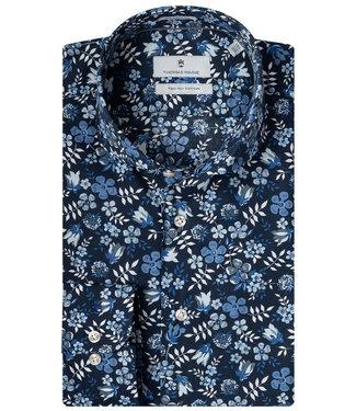 Thomas Maine donkerblauw lichtblauw kobaltblauw liberty bloemenprint