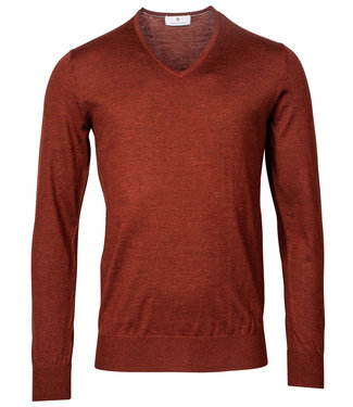 Thomas Maine heren brique rood v-hals trui