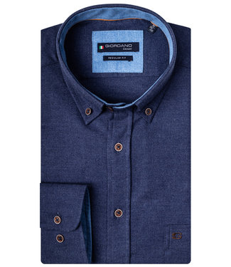 Giordano Regular Fit donkerblauw flanel twill