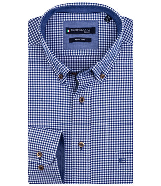 Giordano Regular Fit donkerblauw wit ruitje