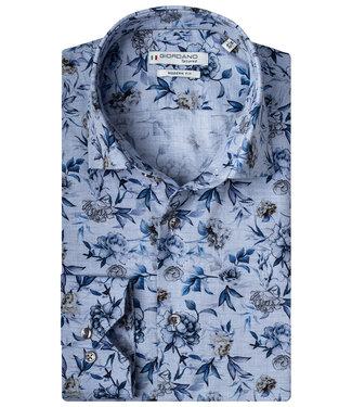 Giordano Tailored lichtblauw blauwe bloemen print