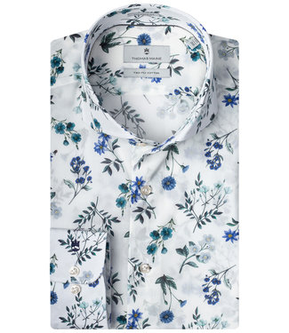 Thomas Maine wit groen kobaltblauw liberty bloemenprint