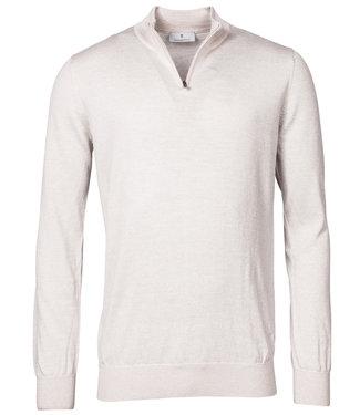 Thomas Maine heren off white ecru zipper trui ritsje