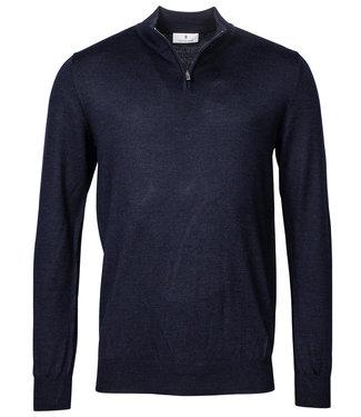 Thomas Maine heren donkerblauw zipper trui ritsje
