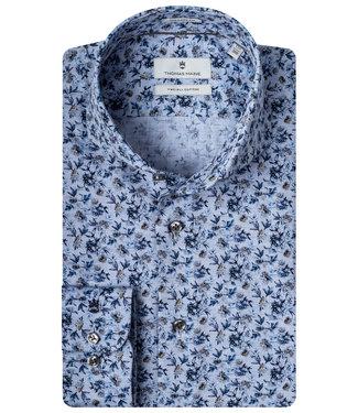 Thomas Maine jeansblauw donkerblauw kobaltblauw LEGGIUNO bloemenprint
