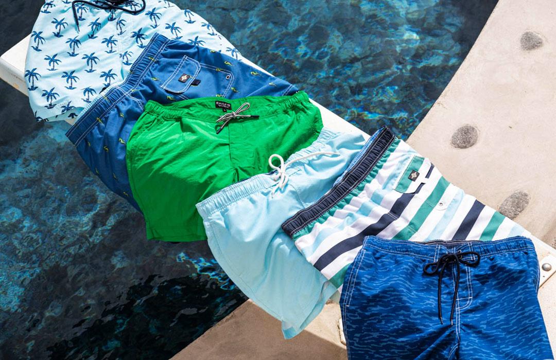 korte broeken en zwembroeken van Baileys bij Shirtsupplier.nl