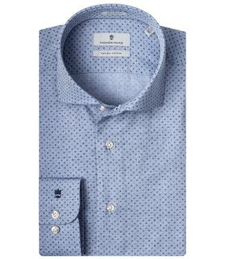 Thomas Maine jeansblauw met blauwe print