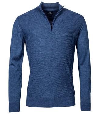 Baileys heren kobaltblauw zipper met ritsje