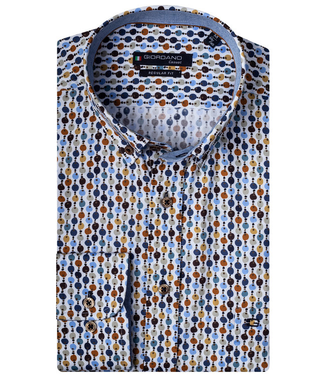 Giordano Regular Fit wit speciale print