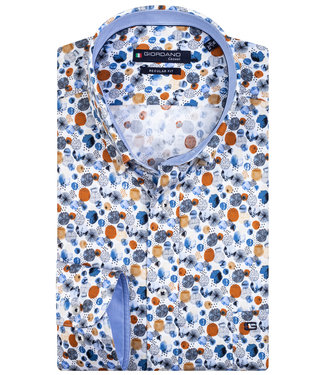 Giordano Regular Fit wit beige brique print