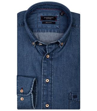 Giordano Regular Fit blauw jeans overhemd