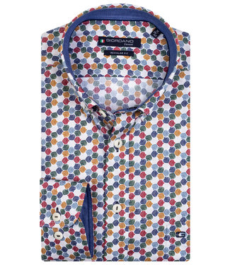 Giordano Regular Fit wit speciale print rood groen