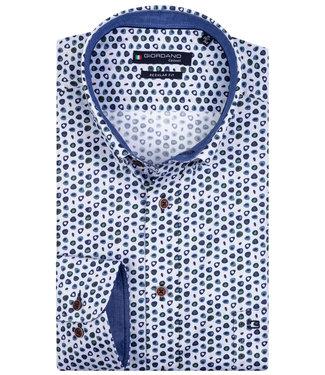 Giordano Regular Fit speciale print donkerblauw-blauw-groen