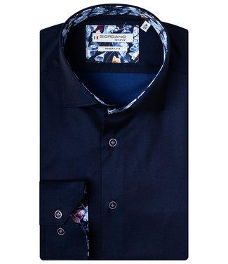 Giordano Tailored donkerblauw met bloemenprint contrast