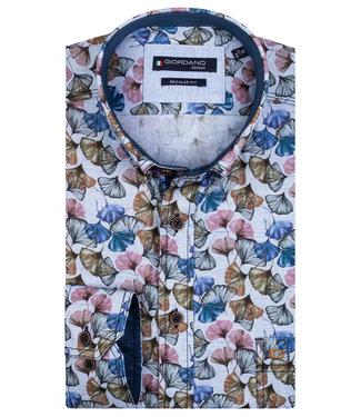 Giordano Regular Fit lichtblauw met tutti colori bloemenprint