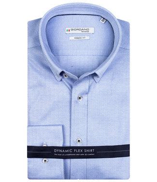 Giordano Tailored lichtblauw visgraat jersey dynamic flex