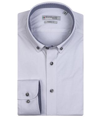 Giordano Tailored wit jersey dynamic flex