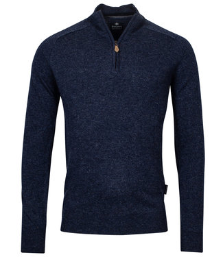 Baileys heren zipper ritsje night blue lamswol