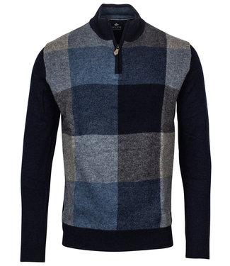 Baileys heren donkerblauw-blauw-grijs ruit zipper met ritsje
