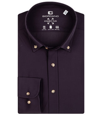 Giordano Tailored bordeaux rood jersey dynamic flex