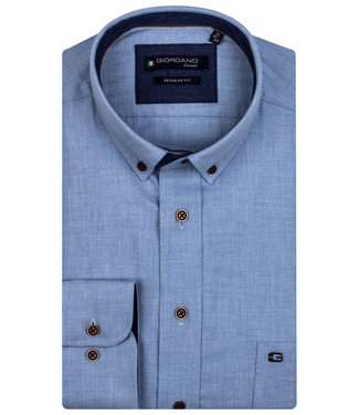 Giordano Regular Fit blauw flanel twill