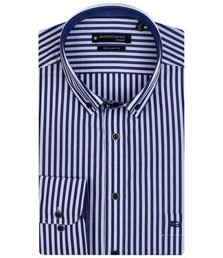 Giordano Regular Fit donkerblauw wit streepje