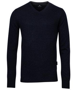 Baileys donkerblauw melee v-hals heren trui
