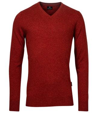 Baileys rood brique v-hals heren trui