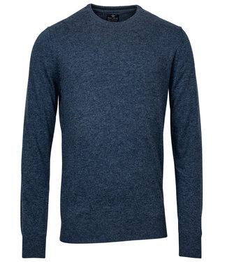 Baileys blauw melee ronde hals heren trui