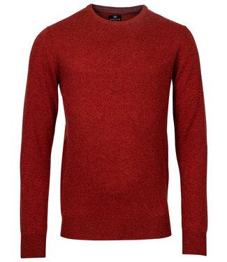 Baileys rood brique melee ronde hals heren trui