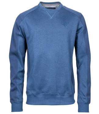 R.B. Boston blauw ronde hals heren sweater