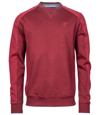 R.B. Boston rood ronde hals heren sweater