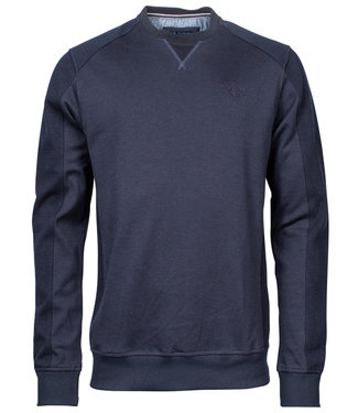 R.B. Boston donkerblauw ronde hals heren sweater
