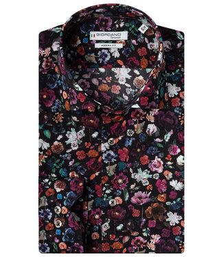 Giordano Tailored zwart met tutti colori liberty bloemenprint
