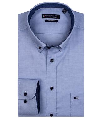 Giordano Regular Fit blauw wit structuur