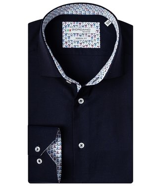 Giordano Tailored donkerblauw uilen print contrast