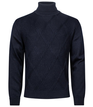 Baileys coltrui Pullover donkerblauw Roll Neck