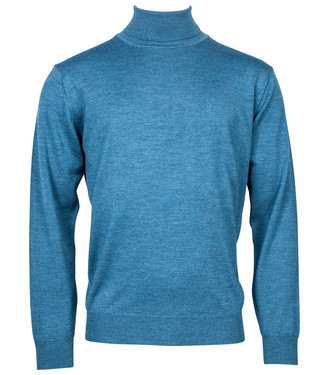 Baileys coltrui Pullover petrol blauw Roll Neck