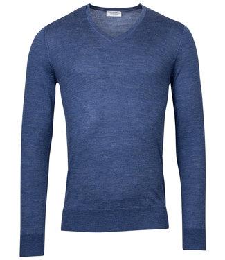 Giordano Blue heren v-hals trui blauw