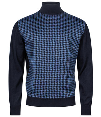 Baileys coltrui Pullover blauw-donkerblauw pied-de-poule