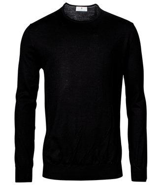 Thomas Maine heren zwart ronde hals trui