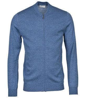 Thomas Maine heren blauw vest met rits